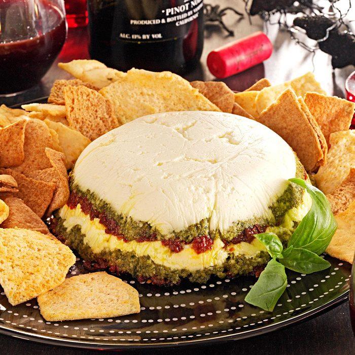 Layered Pesto Cheese Spread