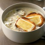 Leek Soup with Brie Toasts
