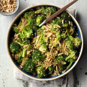 Lemon Couscous with Broccoli