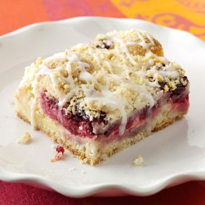 Lemon-Raspberry Streusel Cake
