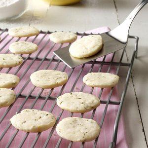 Lemon & Rosemary Shortbread Cookies