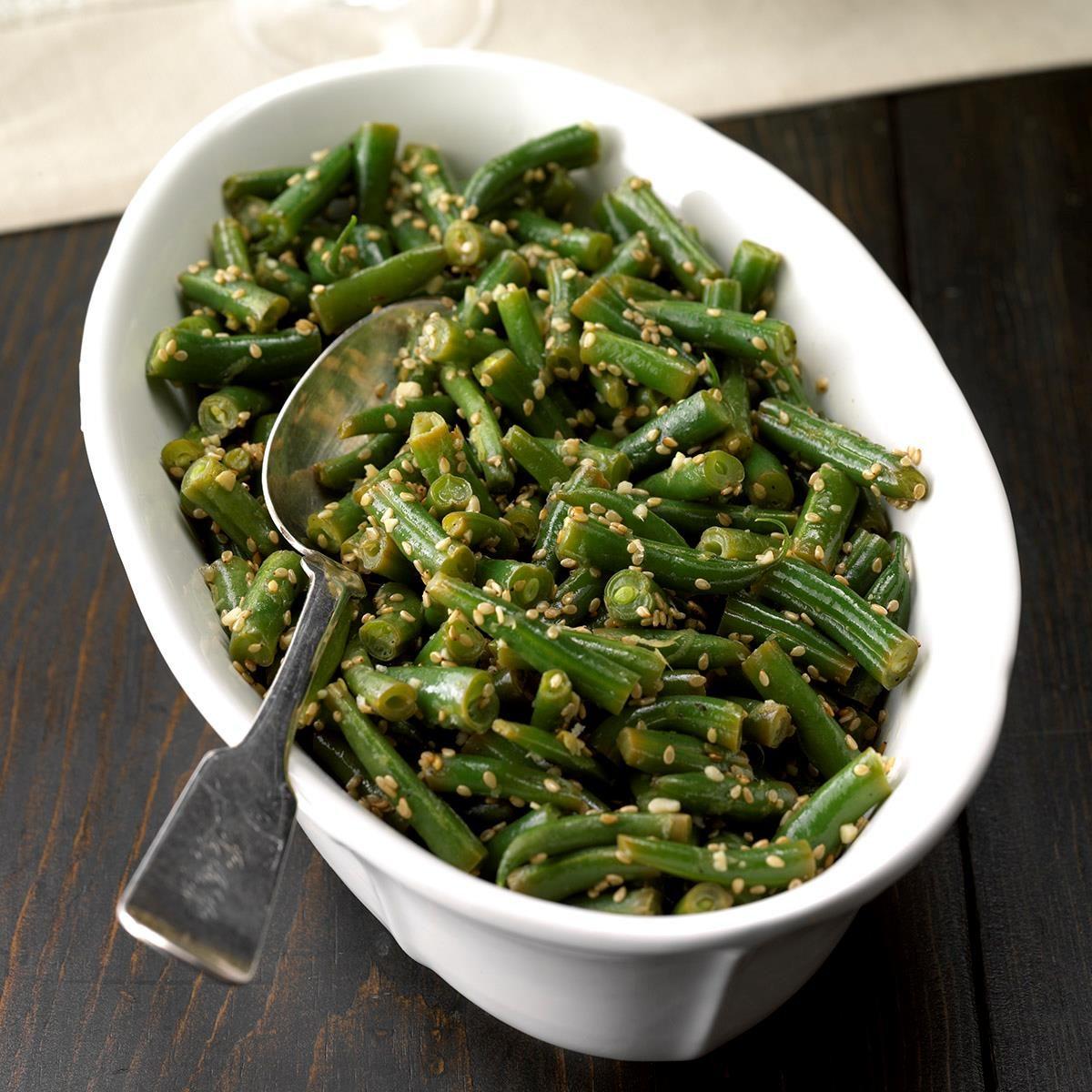 Vegan Lemon-Sesame Green Beans