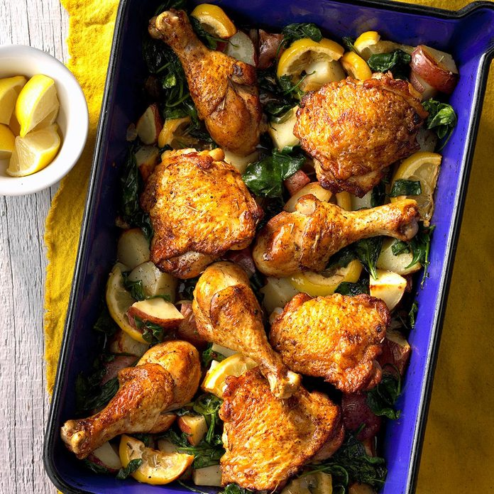 Lemony Roasted Chicken and Potatoes