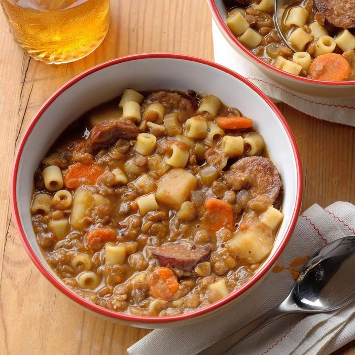 Lentil and Pasta Stew