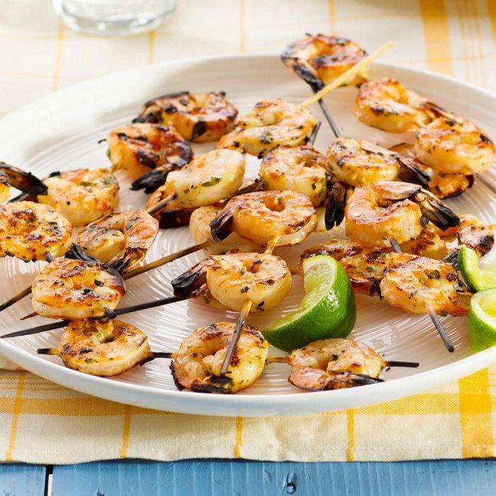 Lime-Cilantro Shrimp Skewers