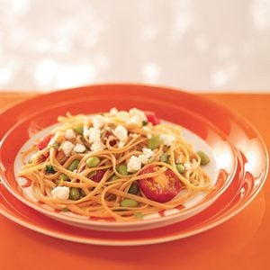 Linguine with Edamame and Tomatoes