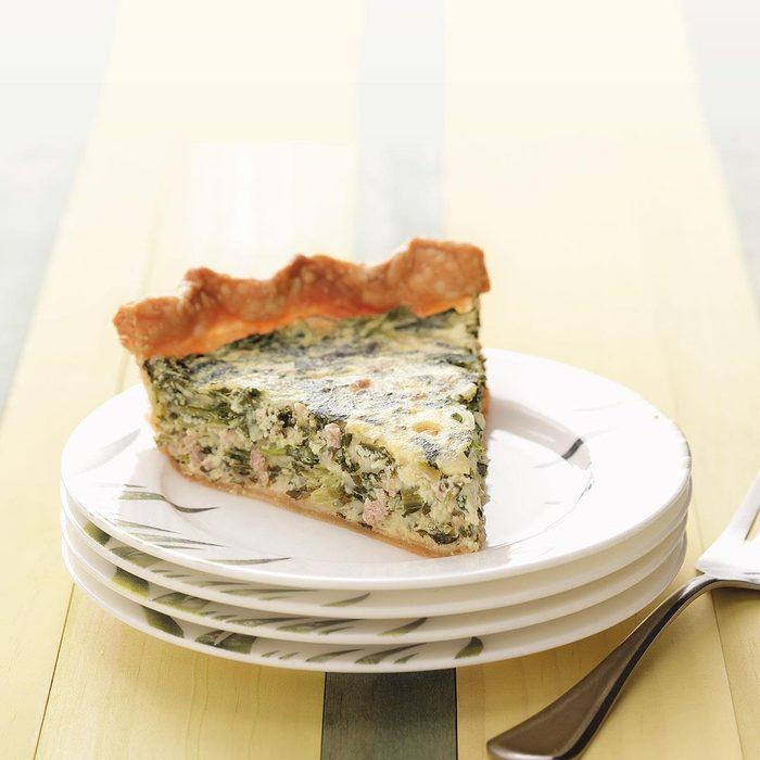 Makeover Sausage & Spinach Pie