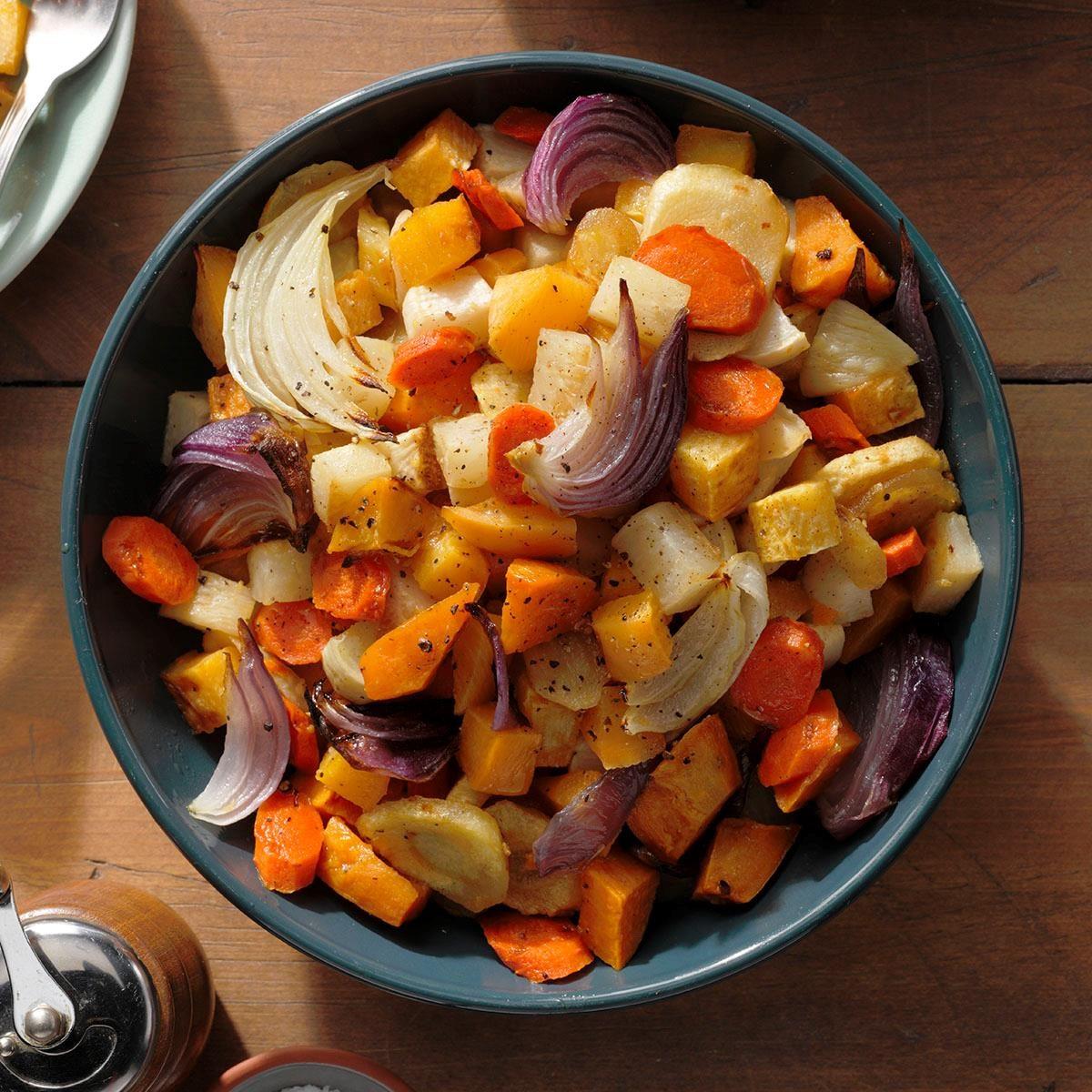 Vegan Maple-Gingerroot Vegetables