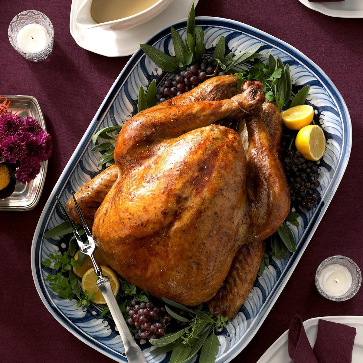 New Hampshire: Maple-Sage Brined Turkey