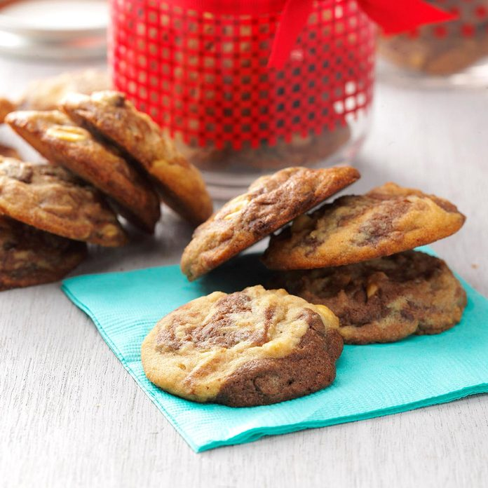 Marbled Chocolate Peanut Cookies