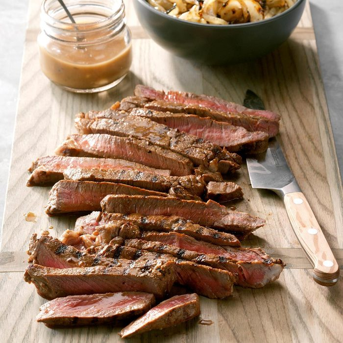 Marinated Steak With Grilled Onions Exps Fttmz19 102685 C03 06 2b Rms