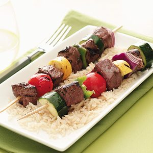 Marinated Veggie Beef Kabobs