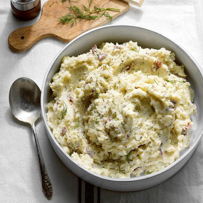 Mediterranean Slow-Cooker Mashed Potatoes
