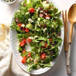 Melon Arugula Salad with Ham