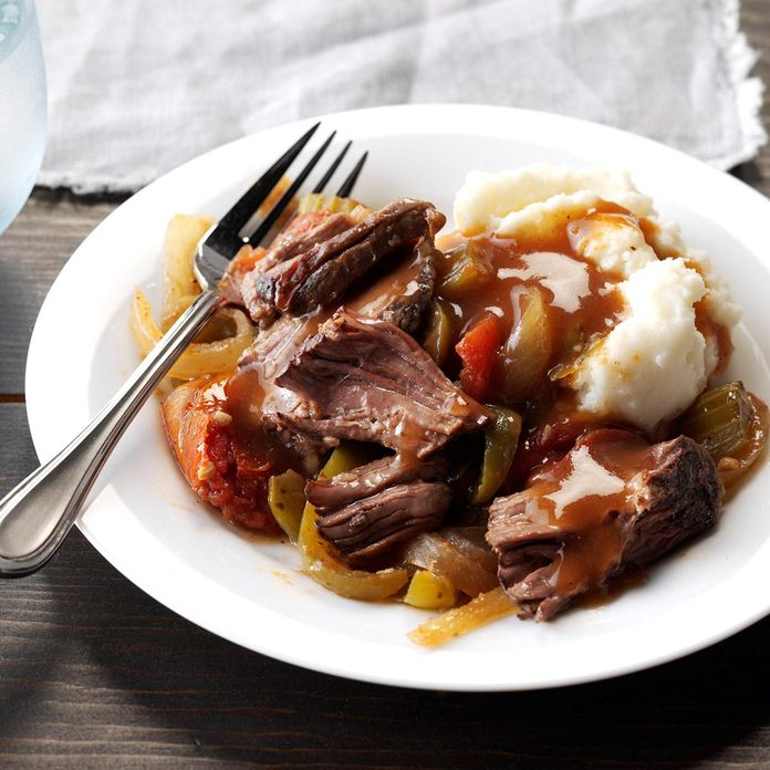 Inspired by: Denny's Slow-Cooked Pot Roast