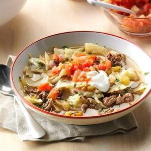 Mexican Cabbage Roll Soup