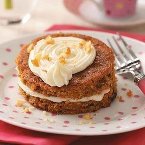 Mini Carrot Cake Tortes