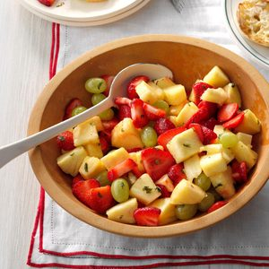 Minty Pineapple Fruit Salad