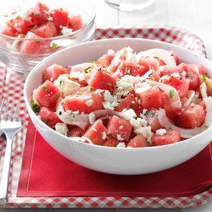 Minty Watermelon Salad