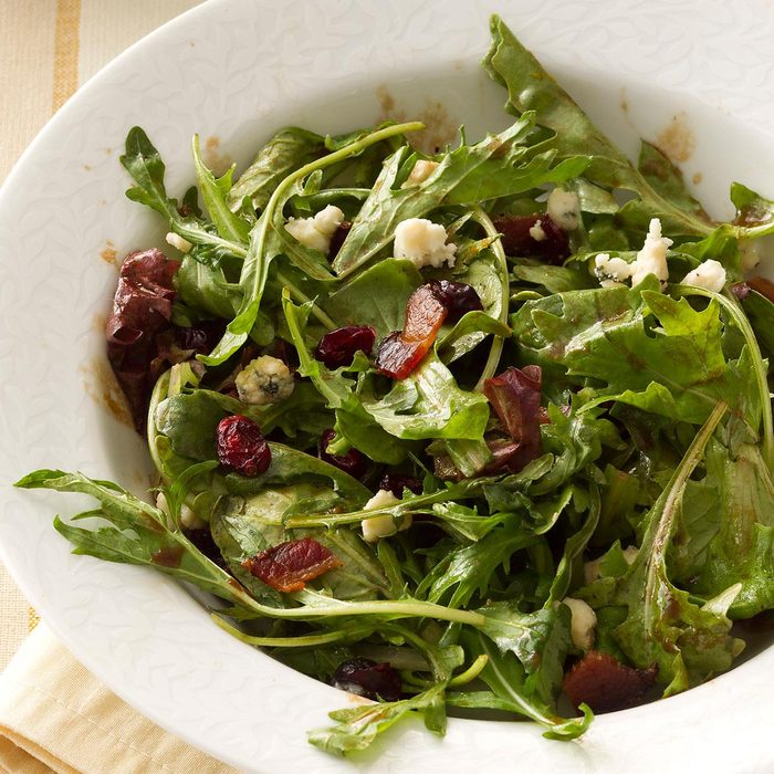 Mixed Greens with Bacon & Cranberries