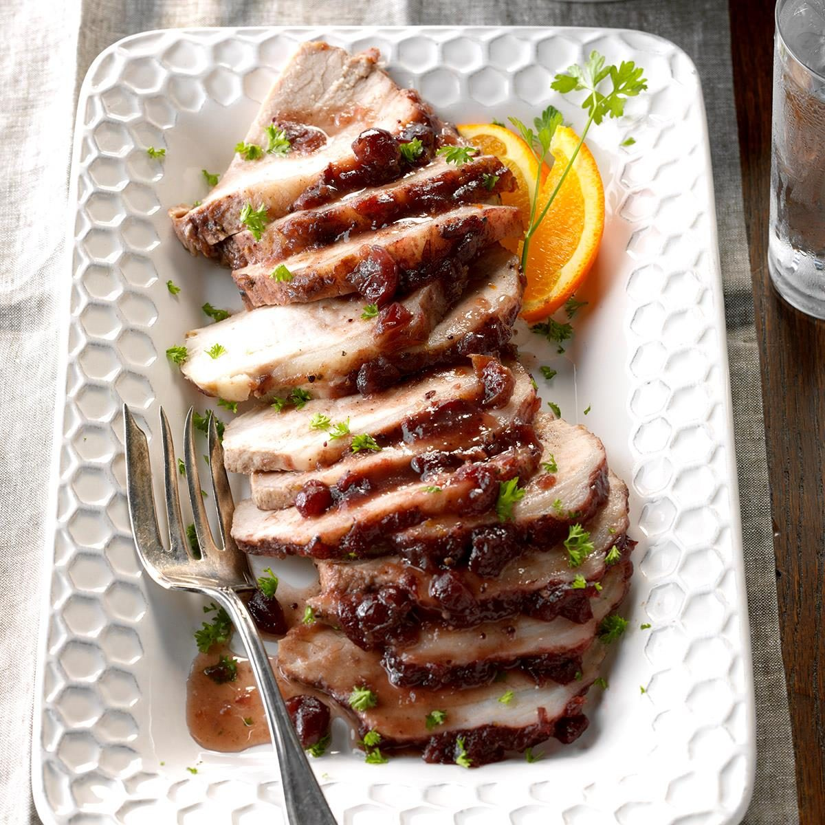 Day 22: Moist Cranberry Pork Roast