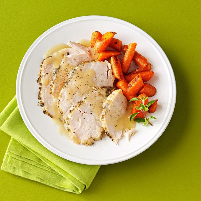 Moist Turkey Breast With White Wine Gravy Exps85598 Sd1999447d12 10 7b Rms