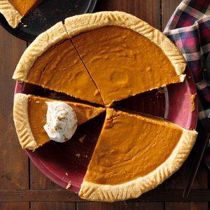 Molasses Pumpkin Pie