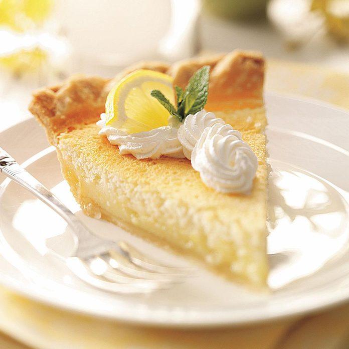 Mom's Lemon Custard Pie