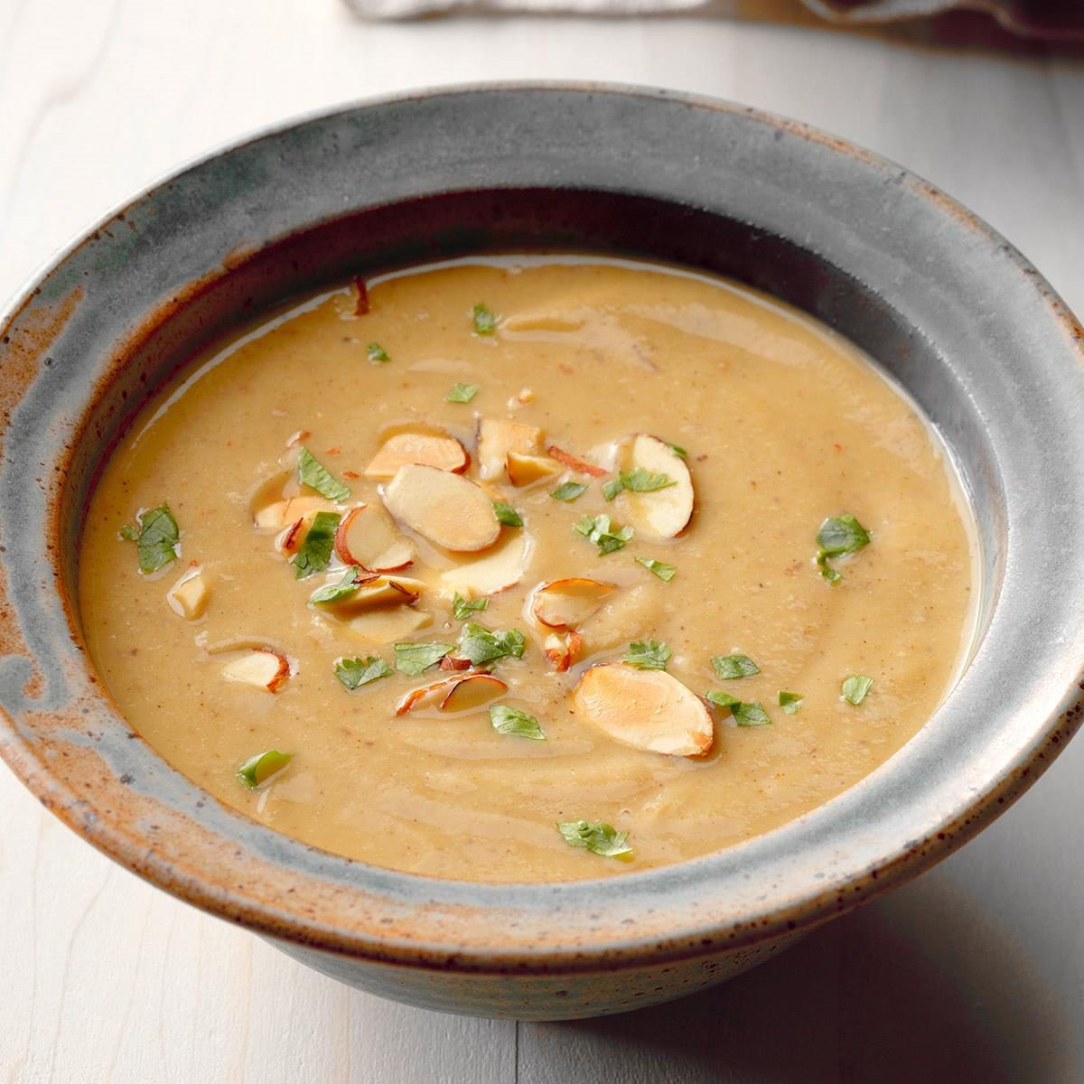 Moroccan Cauliflower and Almond Soup