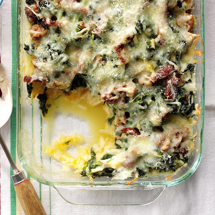 Mozzarella & Spinach Breakfast Casserole