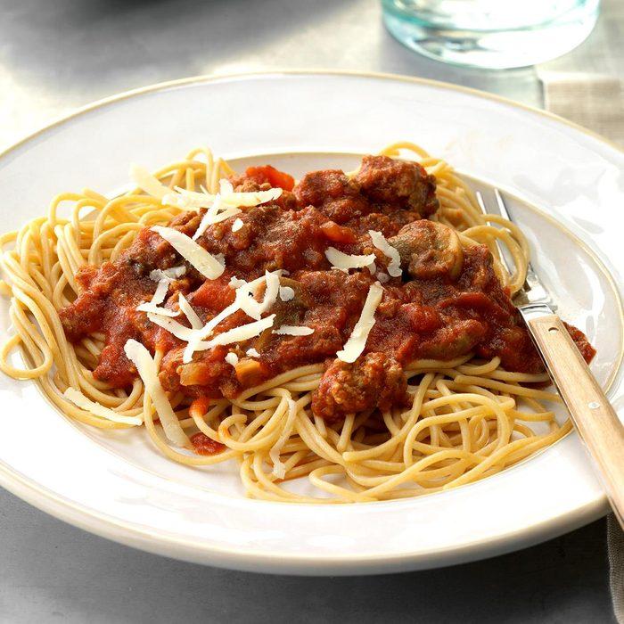 Mushroom-Beef Spaghetti Sauce