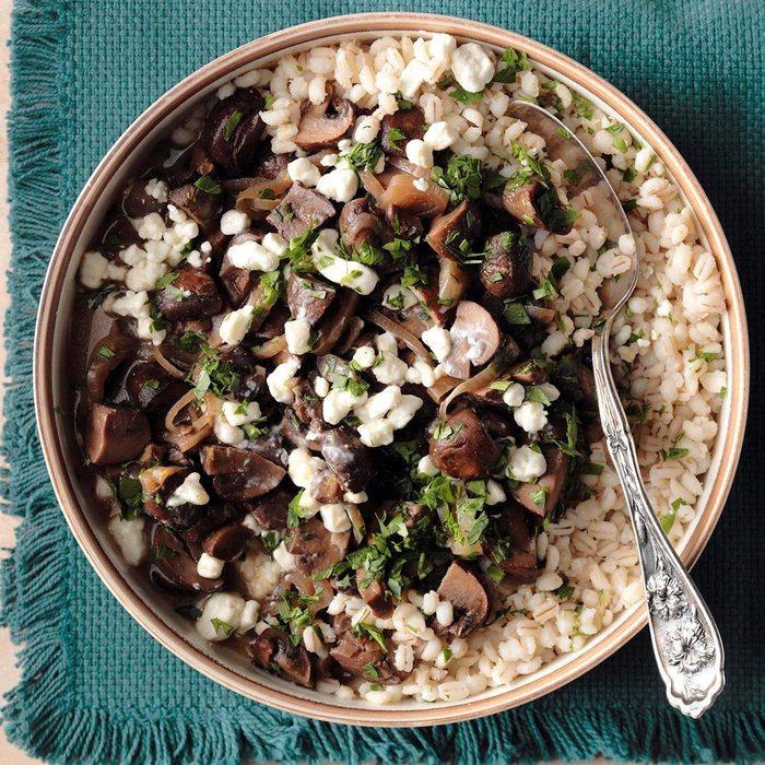 Mushroom Marsala with Barley