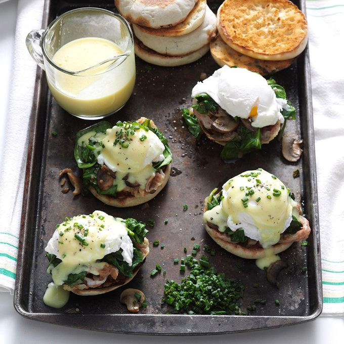 Mushroom & Spinach Eggs Benedict