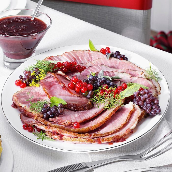 Mustard & Cranberry Glazed Ham
