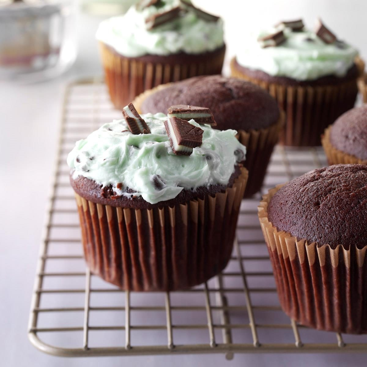 Nana's Chocolate Cupcakes with Mint Frosting