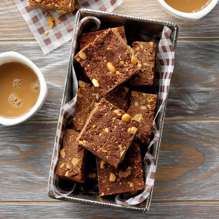No-Bake Peanut Brownies