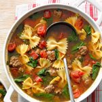 One-Pot Spinach Beef Soup