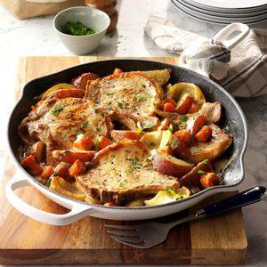 One-Skillet Pork Chop Supper