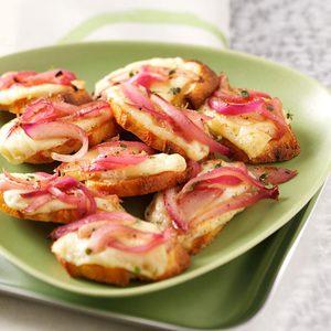 Onion, Garlic & Brie Bruschetta