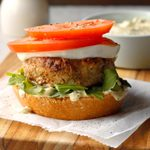Open-Faced Chicken Avocado Burgers