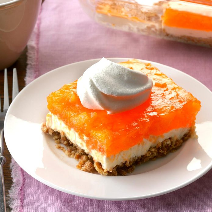 Orange Gelatin Pretzel Salad