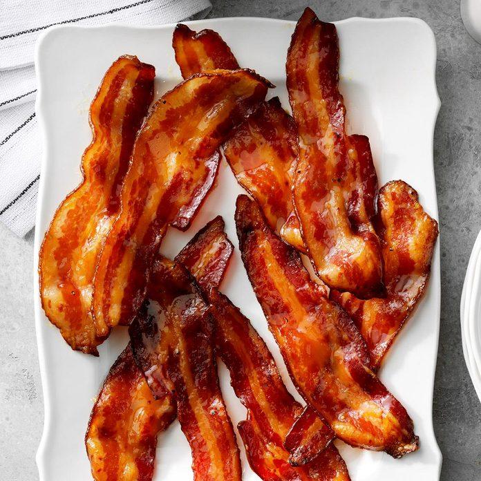 Orange-Glazed Bacon