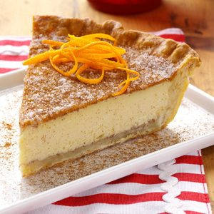 Orange Natilla Custard Pie