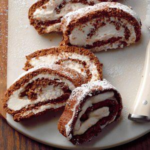 Orange Ricotta Cake Roll