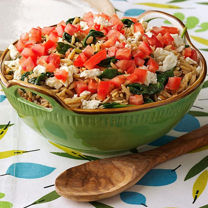 Orzo with Spinach and Pine Nuts
