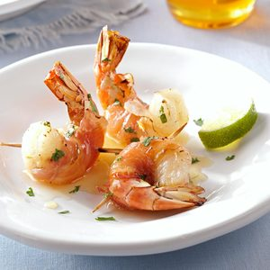 Pancetta-Wrapped Shrimp with Honey-Lime Glaze