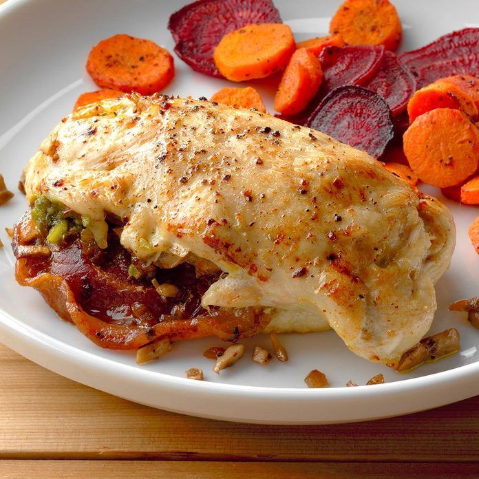 Pancetta and Mushroom-Stuffed Chicken Breast