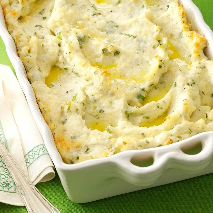 Parmesan-Baked Mashed Potatoes