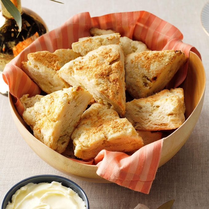 Goes with Minestrone Soup: Parmesan Scones