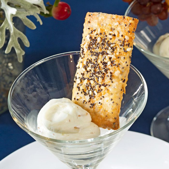 Parmesan Sesame Crackers